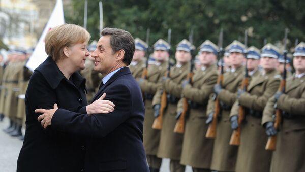 Kanclerz Niemiec Angela Merkel i prezydent Francji Nicolas Sarkozy, 2011 rok  - Sputnik Polska