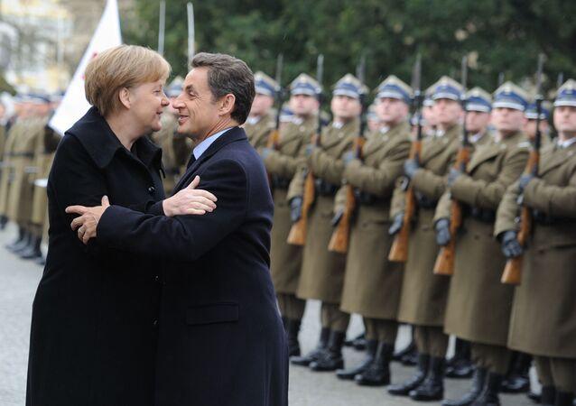 Kanclerz Niemiec Angela Merkel i prezydent Francji Nicolas Sarkozy, 2011 rok