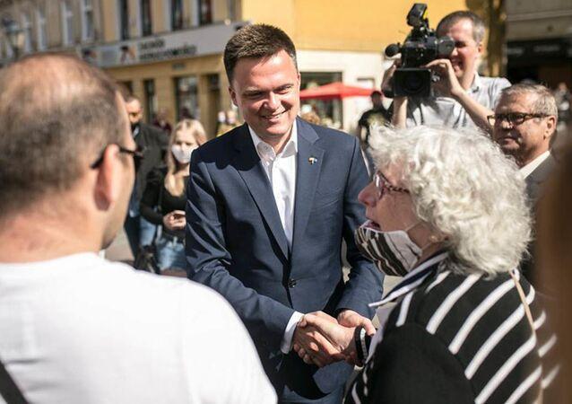 Kandynat na stanowisko prezydenta Polski Szymon Hołownia spotyka się ze swoim elektoratem