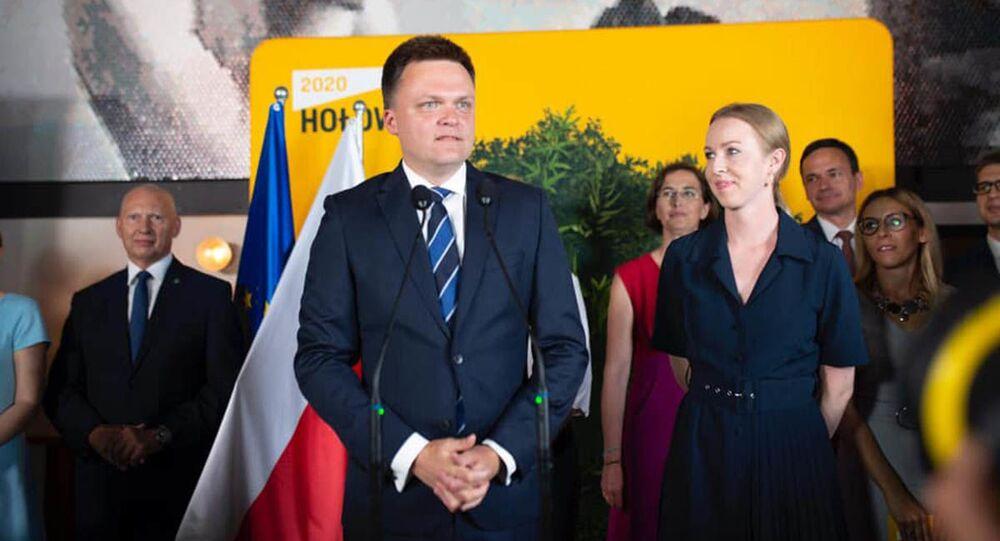 Kandynat na stanowisko prezydenta Polski Szymon Hołownia
