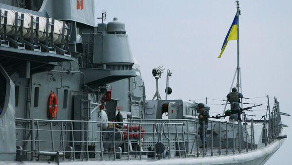 Ukraińska fregata w porcie w Odessie - Sputnik Polska