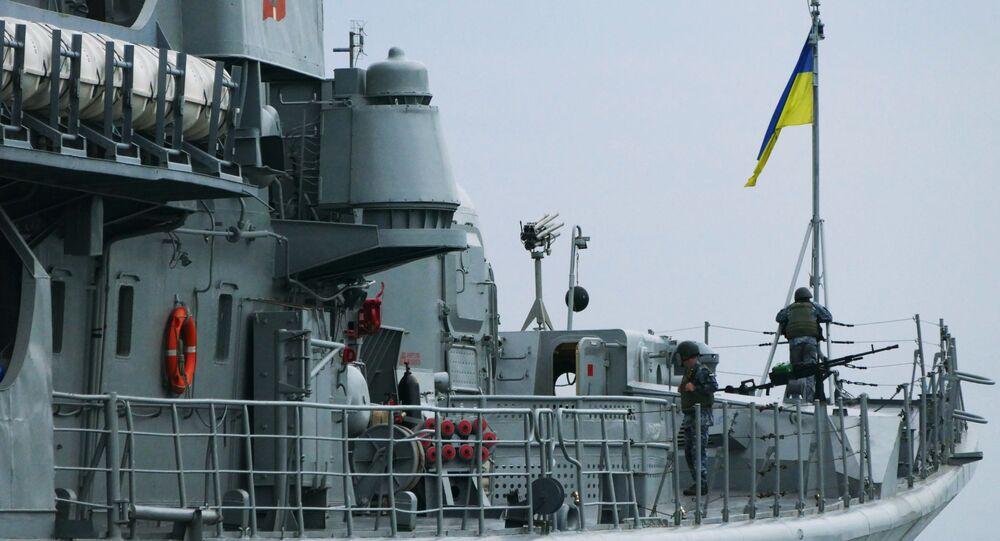 Ukraińska fregata w porcie w Odessie