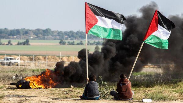 Protesty w Palestynie - Sputnik Polska