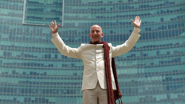 Prezes Amazon i założyciel firmy Amazon Jeff Bezos - Sputnik Polska