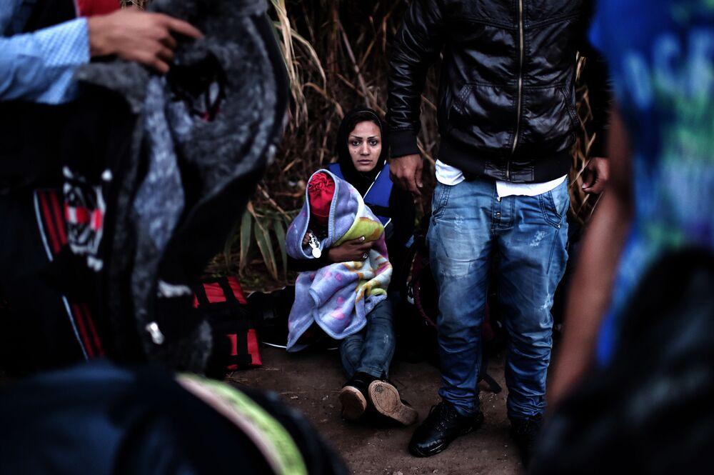 Uchodźcy na greckiej wyspie Lesbos