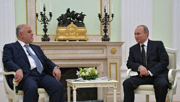 Władimir Putin i Haider al-Abadi - Sputnik Polska