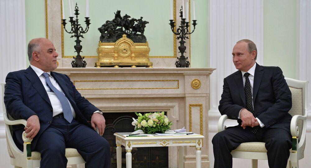 Władimir Putin i Haider al-Abadi