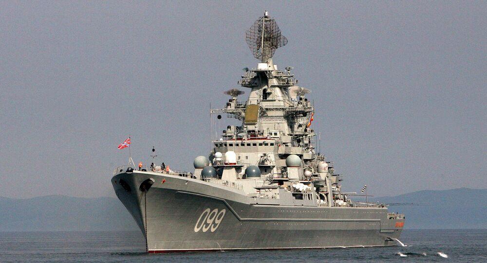 Okręt Floty Północnej Piotr Wielki
