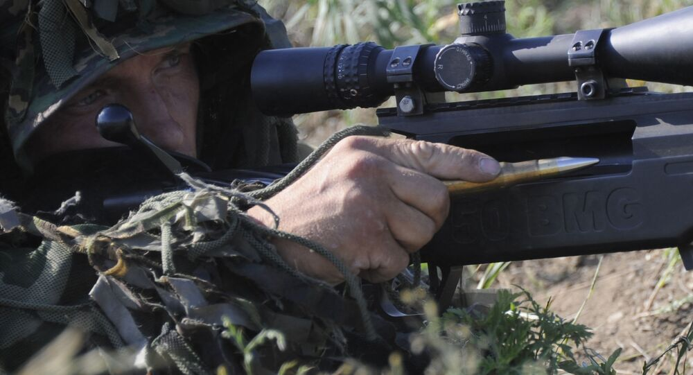 Snajperzy podczas szkoleń w obwodzie rostowskim