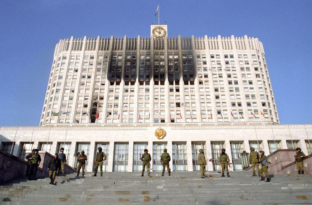 Specnaz pod Białym Domem w Moskwie, październik 1993 r.