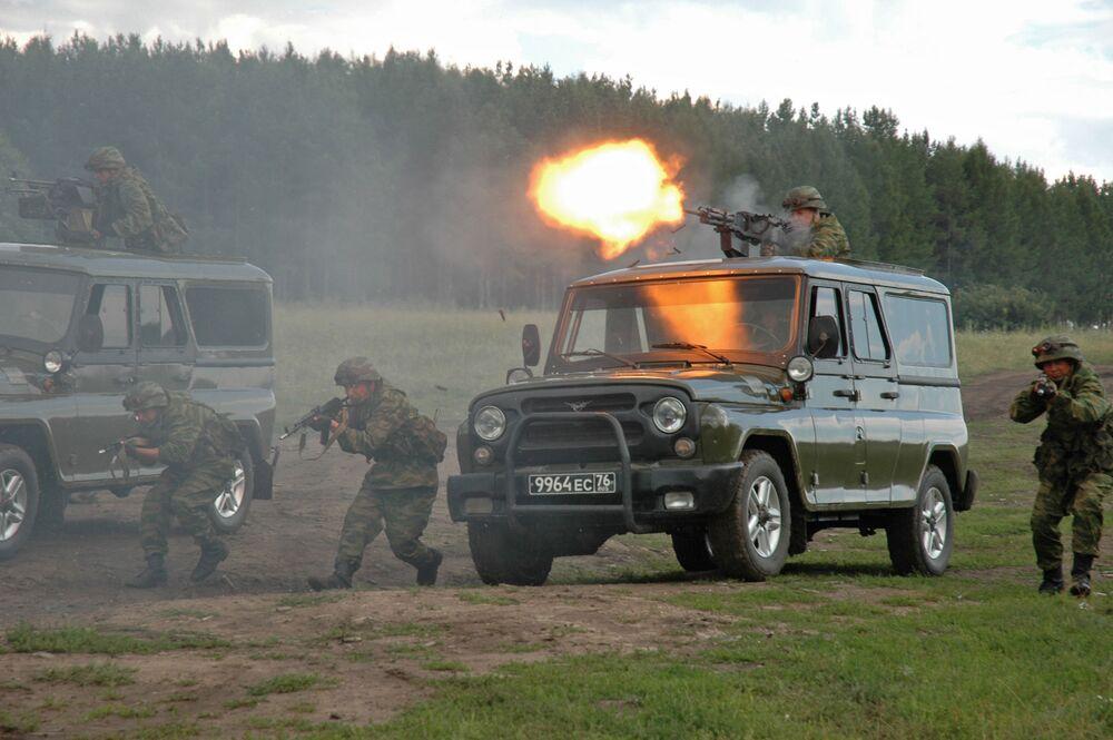 Specnaz Ministerstwa Obrony Rosji podczas ćwiczeń antyterrorystycznych