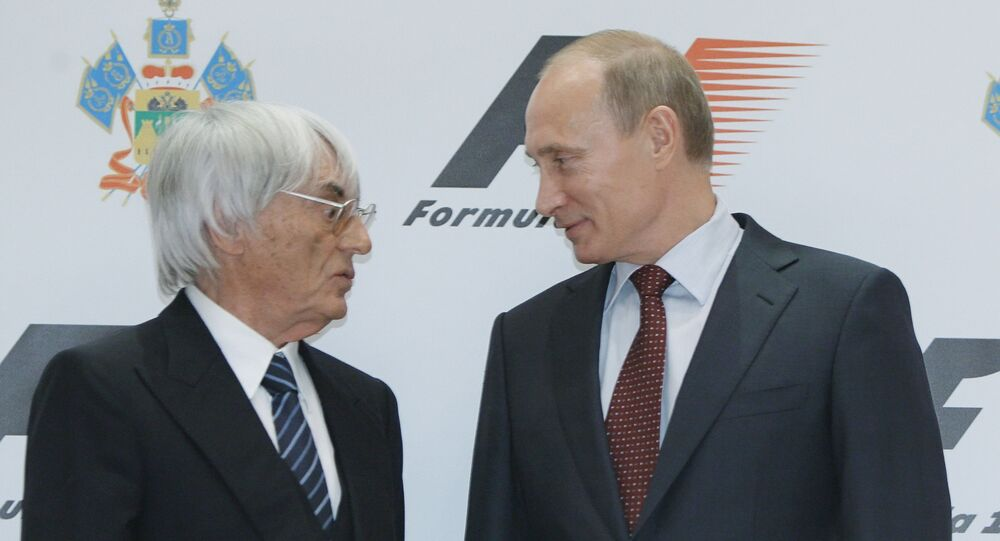 Władimir Putin i Bernard Ecclestone