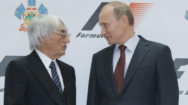 Władimir Putin i Bernard Ecclestone - Sputnik Polska