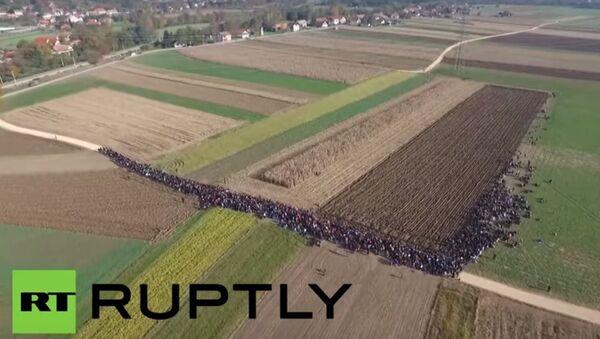 Migranci w Słowenii - Sputnik Polska
