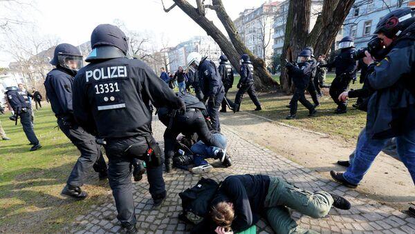 Protesty we Frankfurcie - Sputnik Polska