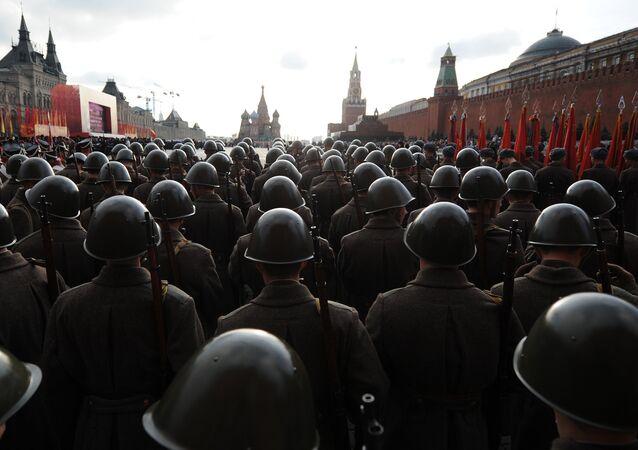 Próba generalna parady wojskowej  w Moskwie