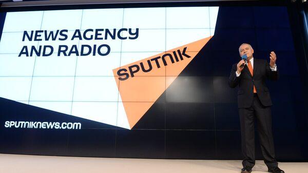 Dmitrij Kisielow prezentuje nową markę Sputnik - Sputnik Polska