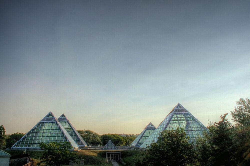 Ogród Muttart Conservatory w Kanadzie