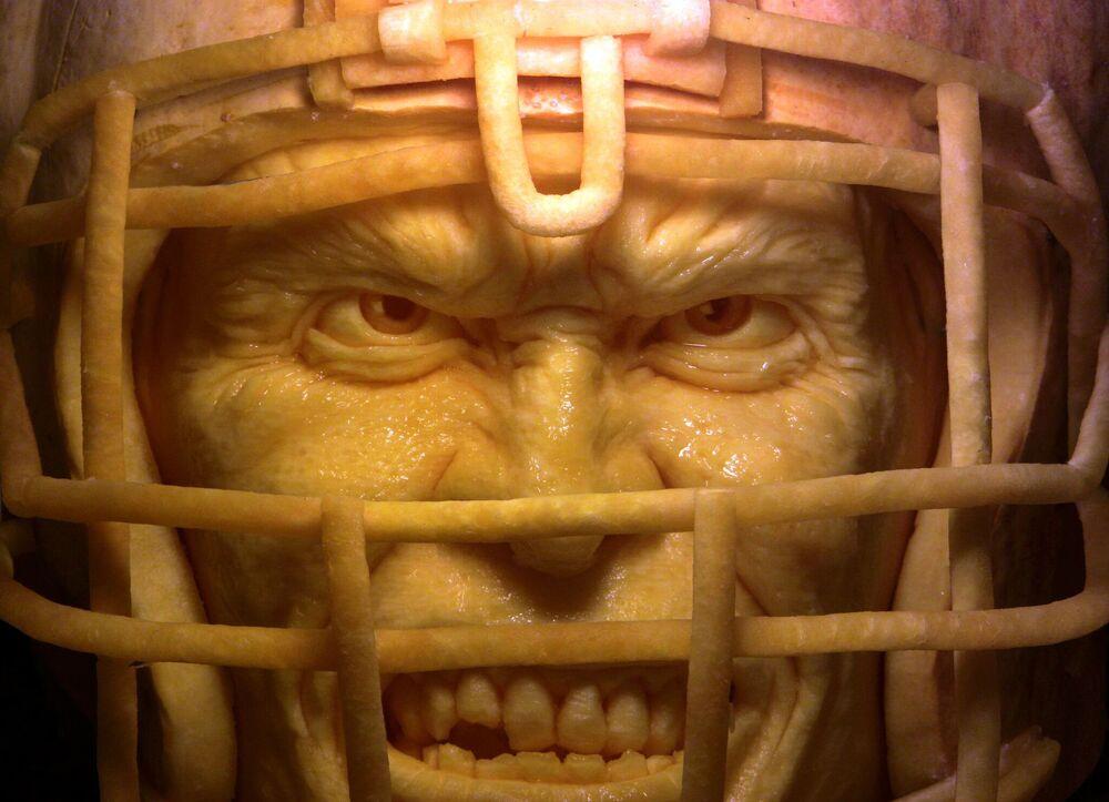 Przerażające rzeźby z dyni Ray'a Villafane'a