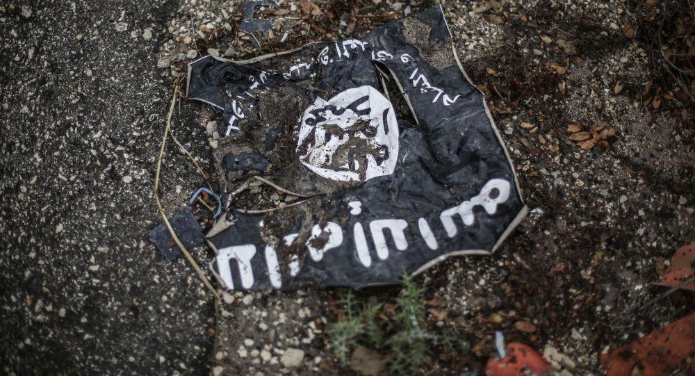Flaga radykalnej islamistycznej organizacji Państwo Islamskie Iraku i Lewantu