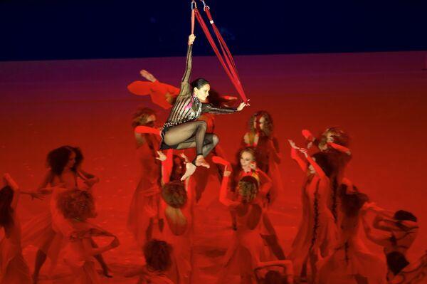 Irina Ciasina na ceremonii zamknięcia Mistrzostw Europy w gimnastyce artystycznej w Moskwie - Sputnik Polska