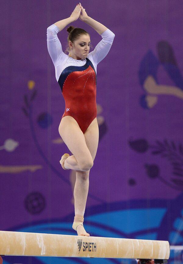 Rosjanka Alia Mustafina podczas I Igrzysk Europejskich w Baku - Sputnik Polska