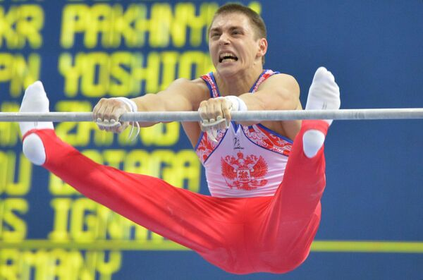 Gimnastyk Nikita Ignatiew na XXVII Letniej Uniwersyadzie w Kazaniu - Sputnik Polska