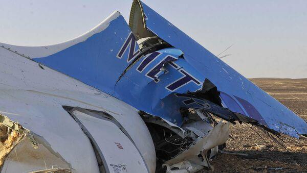 Wrak rosyjskiego samolotu pasaerskiego Airbus A321 który rozbił się na Półwyspie Synaj - Sputnik Polska