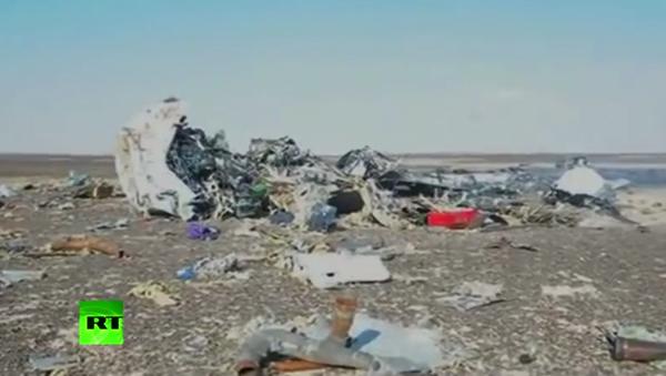 Pierwsze wideo z miejsca katastrofy rosyjskiego samolotu A321 w Egipcie - Sputnik Polska