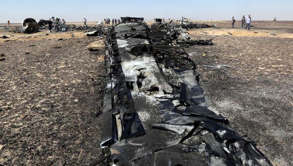 Fragmenty rosyjskiego samolotu pasażerskiego Airbus A321 który rozbił się na Półwyspie Synaj - Sputnik Polska