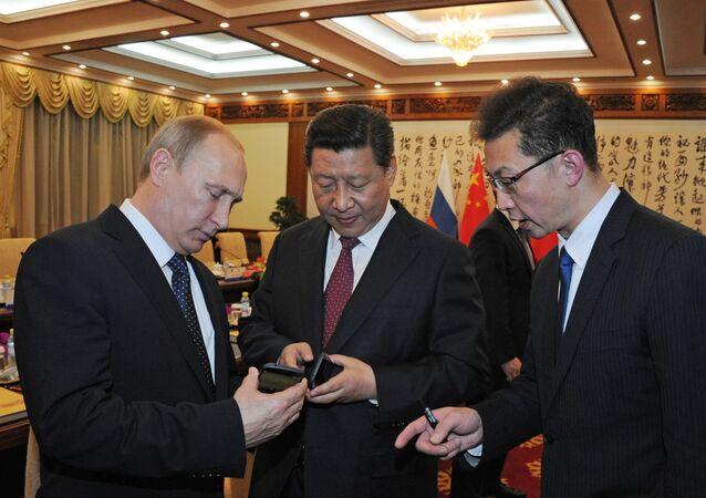 Prezydent Rosji Władimir Putin i przewodniczący ChRL Xi Jinping w Chinach