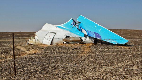 Szczątki samolotu na miejscu katastrofy rosyjskiego samolotu Airbus A321 w Egipcie - Sputnik Polska