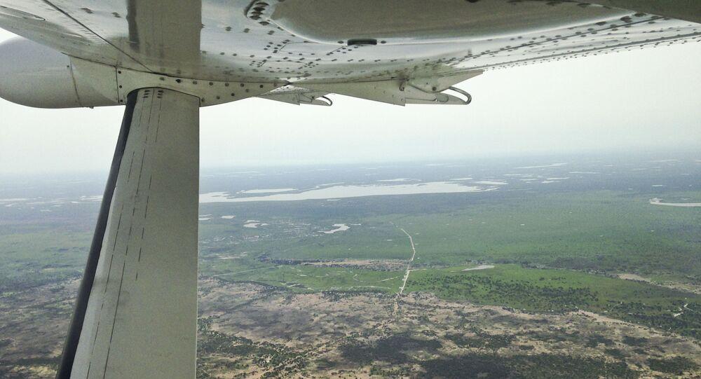 Widok z powietrza na Sudan Południowy