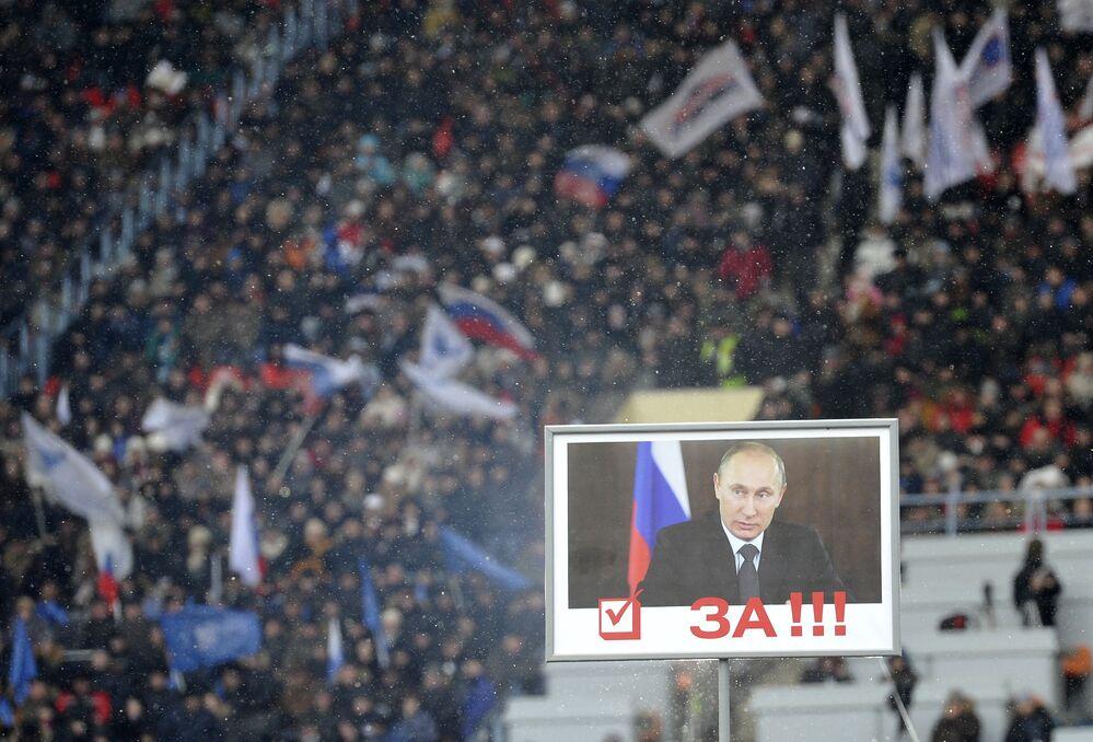 Marsz i wiec poparcia dla Władimira Putina Stańmy w obronie kraju!