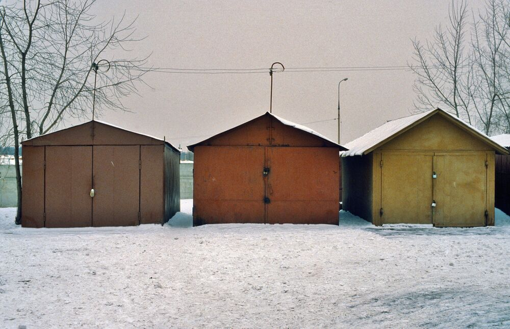 Garaże samochodowe w Moskwie, 1984 rok.