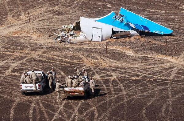 Miejsce katastrofy rosyjskiego samolotu pasażerskiego Airbus A321 w Egipcie - Sputnik Polska