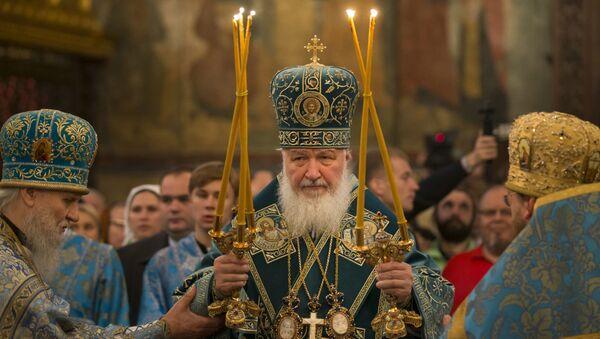 Patriarcha moskiewski i całej Rusi Cyryl w Dniu Jedności Narodowej - Sputnik Polska