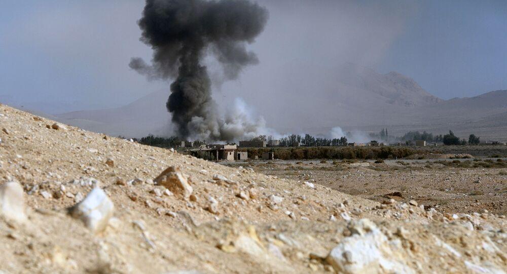 Ostrzał artyleryjski pozycji bojowników w Syrii