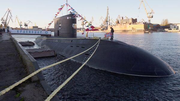 Ceremonia przekazania okrętu podwodnego Krasnodar rosyjskiej flocie - Sputnik Polska