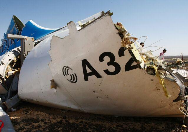 Fragment rosyjskiego samolotu pasażerskiego A321