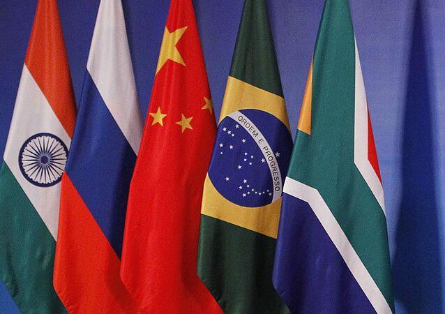 Flagi państw członkowskich BRICS