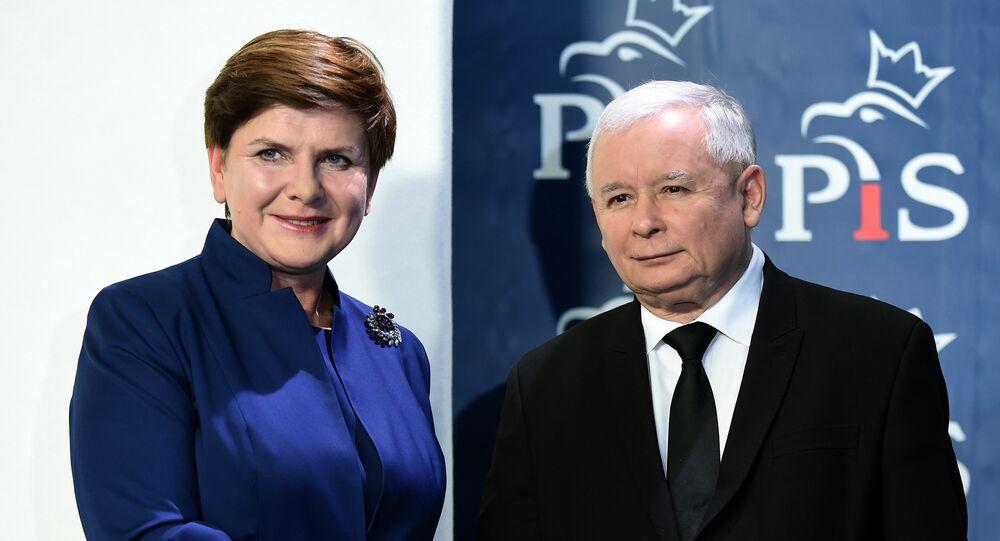 Prezes PiS Jarosław Kaczyński i premier Polski Beata Szydło