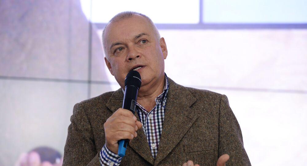 "Dyrektor generalny agencji informacyjnej ""Rossiya Segodnya"" Dmitrij Kisielow"
