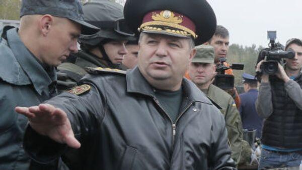 Minister obrony Ukrainy Stepan Połtorak - Sputnik Polska