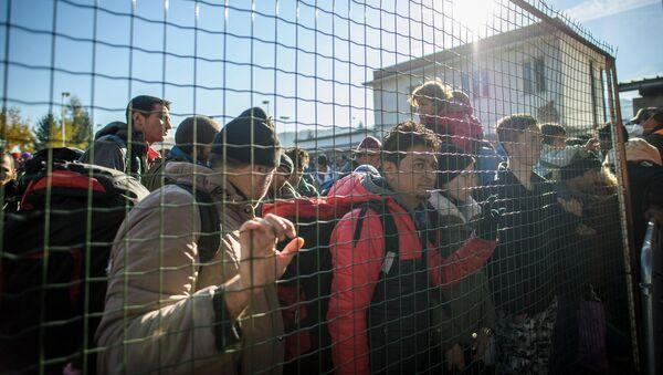 Imigranci na granicy słoweńsko-austriackiej - Sputnik Polska