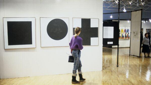 Выставка работ Казимира Малевича в Третьяковской галерее - Sputnik Polska