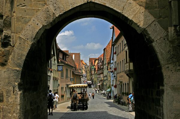 Widok na Rothenburg w Niemczech - Sputnik Polska