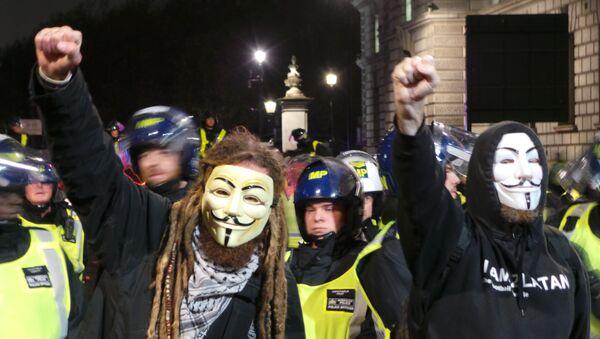 Demonstracja Anonymousów, Londyn 5 listopada 2015 - Sputnik Polska
