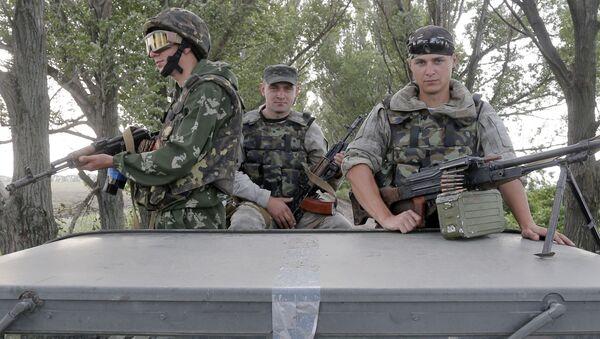 Desantowcy ukraińskiej armii w Słowiańsku - Sputnik Polska