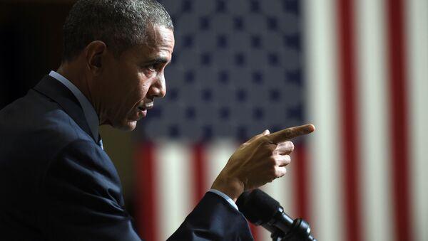 Prezydent USA Barack Obama przemawia w New Jersey - Sputnik Polska